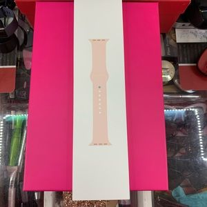Authentic Apple Watch Sport band in Pink Sand